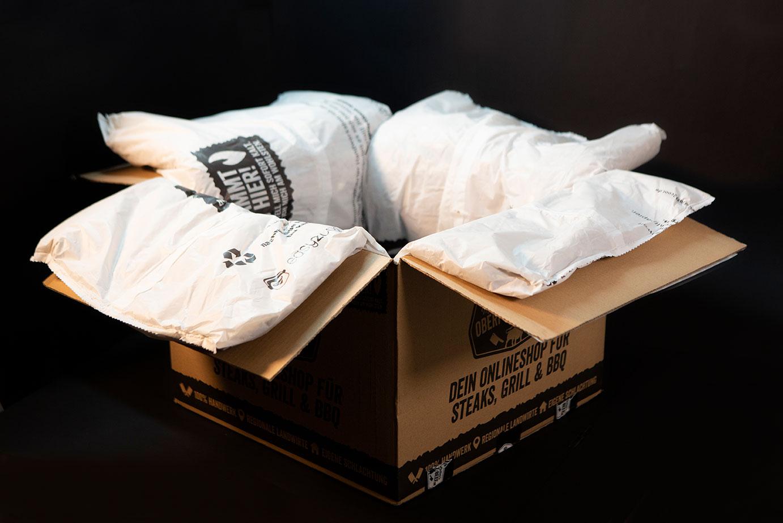 Ökologische Verpackung offen